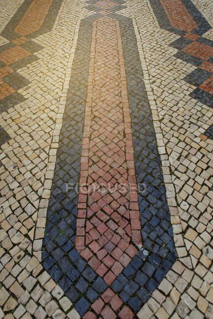 Tiles on the sidewalk,algarve — Stock Photo