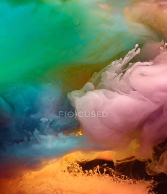 Background of vivid colorful smoke clouds — Stock Photo