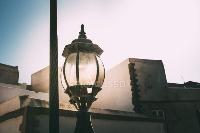 Street old lamp in Marrakesh — Stock Photo