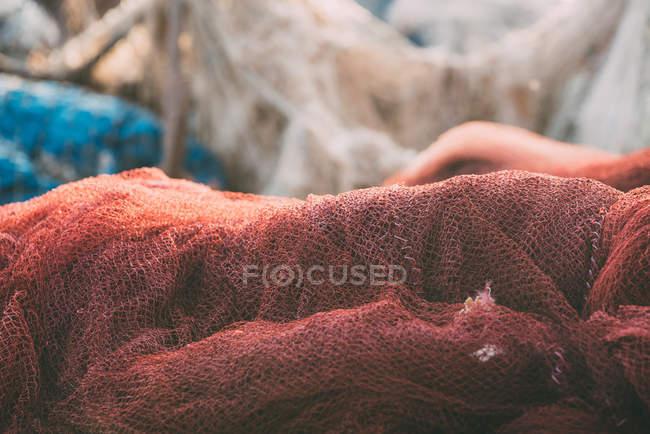 Peixes coloridos empilham no porto, close-up — Fotografia de Stock