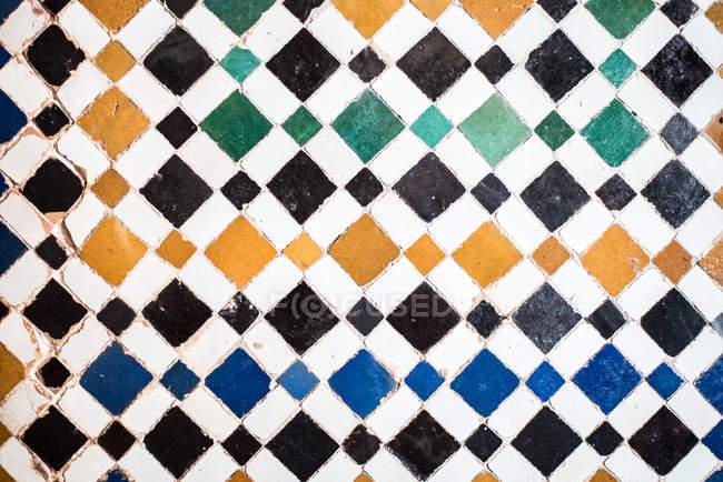 Vintage handmade colorful tile ceramic — Stock Photo