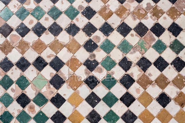 Vintage handmade ceramic tiles, full frame — Stock Photo