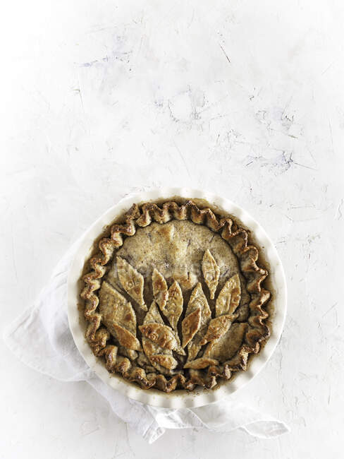 Fresh baked pie in form — Stock Photo