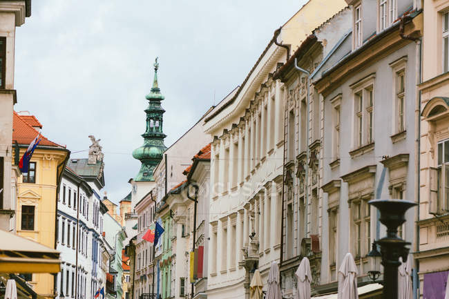 Saint Michaels Gate and Michalska Street, Bratislava, Slovakia — Stock Photo