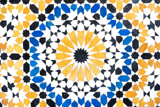 Vintage artesanal azulejo modelado cerâmica — Fotografia de Stock