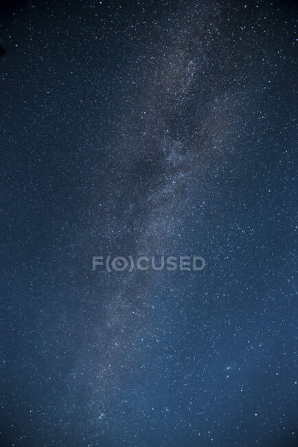 From below beautiful dark sky with many little shines of stars — Stock Photo