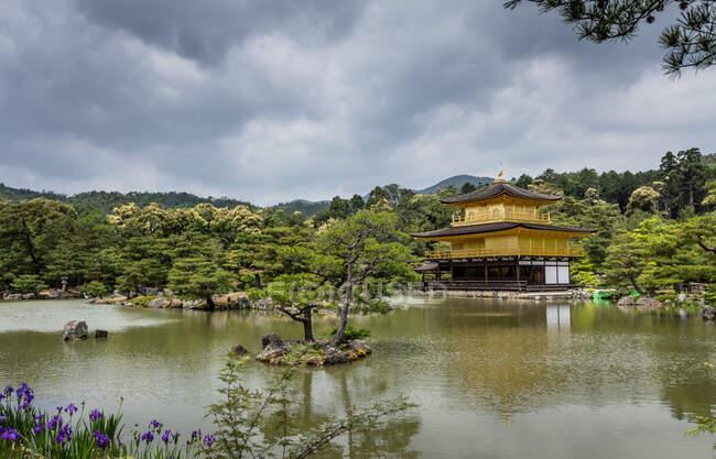 Beau parc zen par temps nuageux — Photo de stock