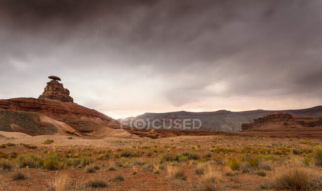 Cloudy sky over field — Stock Photo