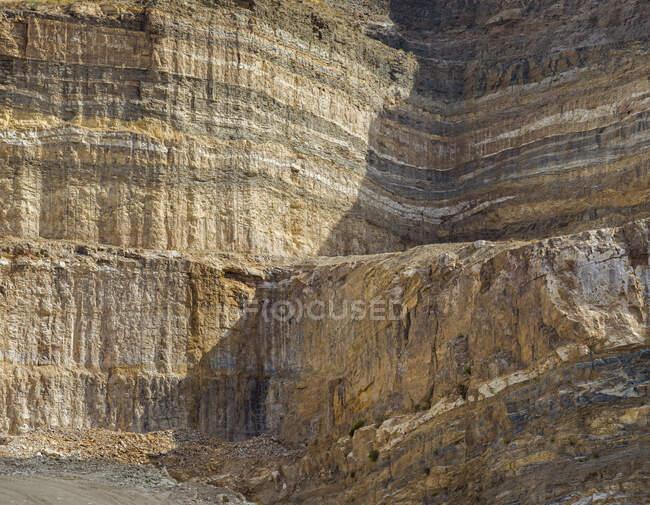 Drone vista della cava di pietra — Foto stock