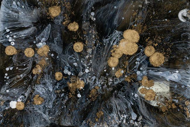 Abstrakter Fluss flüssiger Farben im Mix — Stockfoto