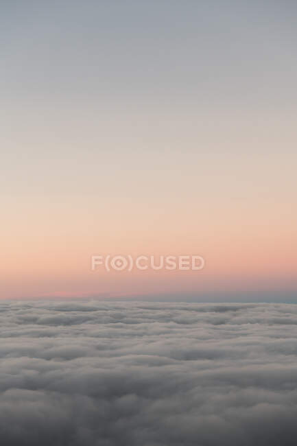 View to beautiful cloudscape and clear sky in evening light — Stock Photo