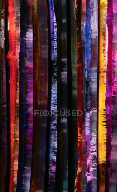 Paneles de resina epoxi multicolor brillante abstracto - foto de stock