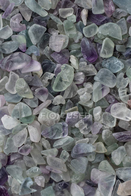 From above small raw fluorite rocks placed in pile — Foto stock