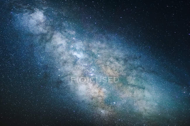 View of night sky with Milky way — стокове фото