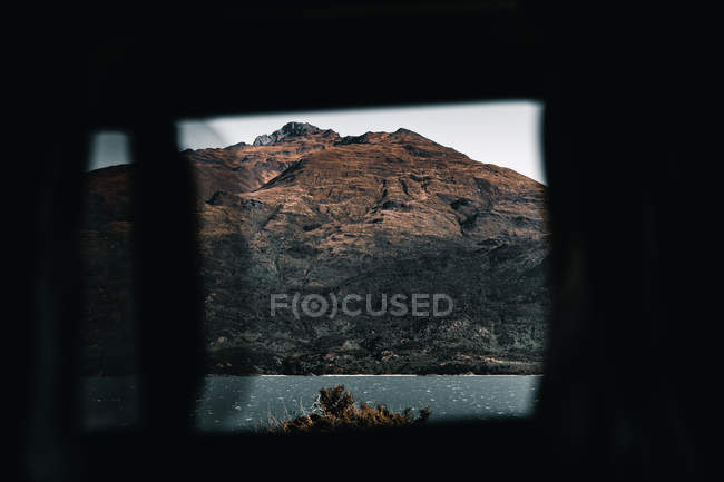 Vista da paisagem da montanha do carro no lago Wanaka e no lago Hawea em Nova Zelândia — Fotografia de Stock