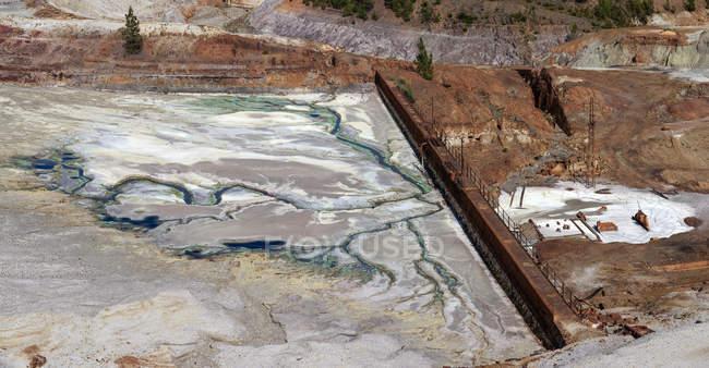 Paysage des anciennes structures minières du Riotinto Huelva Espagne — Photo de stock