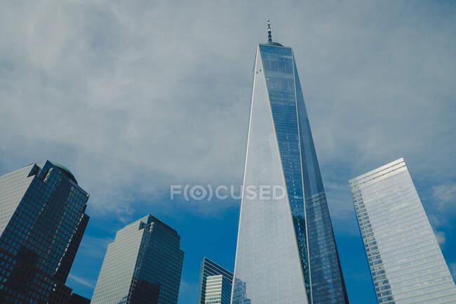 Чудовий краєвид міста й будинків у Нью - Йорку. — стокове фото