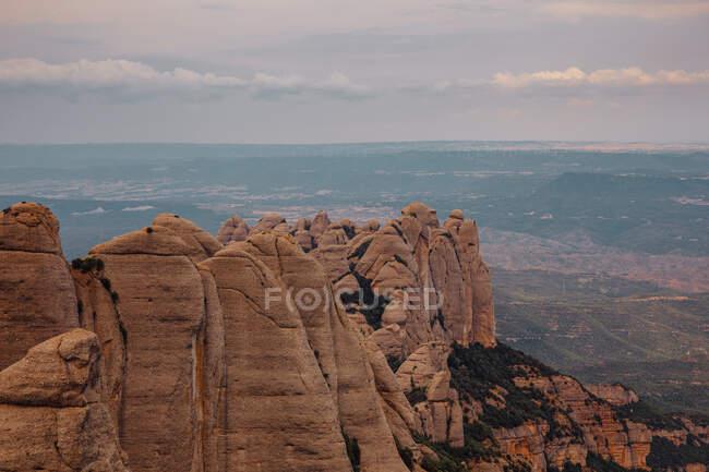 Paisagem das montanhas de Montserrat, Catalunha, Espanha — Fotografia de Stock