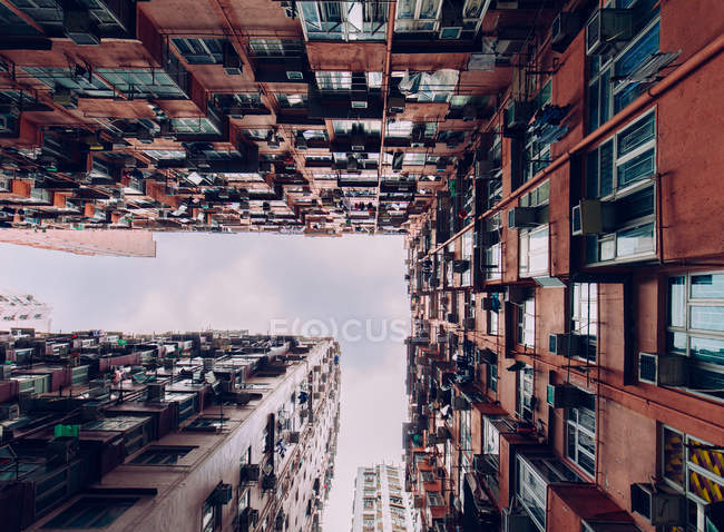 Contemporary buildings with balconies — Stock Photo