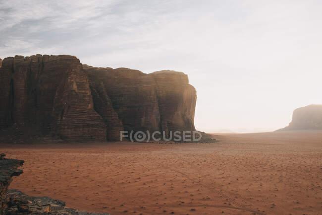 Sunset in Wadi Rum desert, Jordan — Stock Photo
