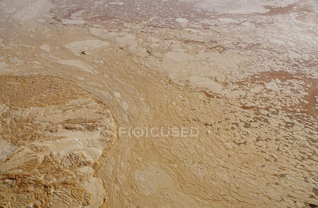 From above natural texture of spotted muddy water in swamp with stains — Stock Photo