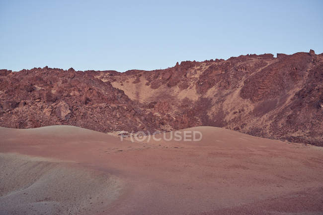 Martian picturesque rocky and mountain landscape of El Teide volcano on Tenerife island in Spain — Stock Photo