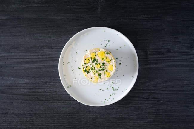 Frische aromatische Lima Thunfisch mit geschnittenem Gemüse — Stockfoto