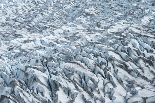 From above abstract texture of cold snowy rocky surface in Chile — Stock Photo