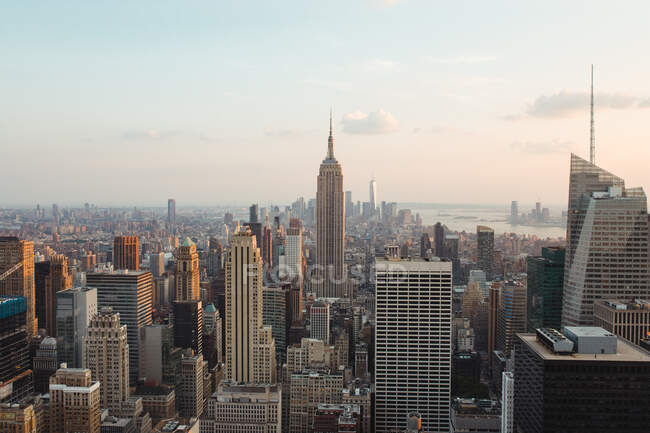 View and landscape of cityscape of new york — Stock Photo