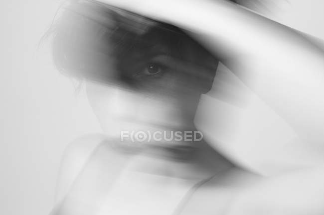 Thoughtful sensual young woman in studio — Stock Photo