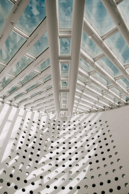 Metal and glass roof of modern building — Stock Photo