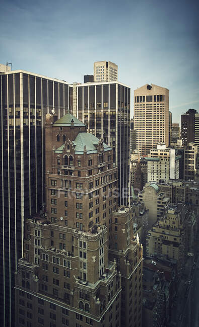 Belle vue sur les gratte-ciel de New York — Photo de stock