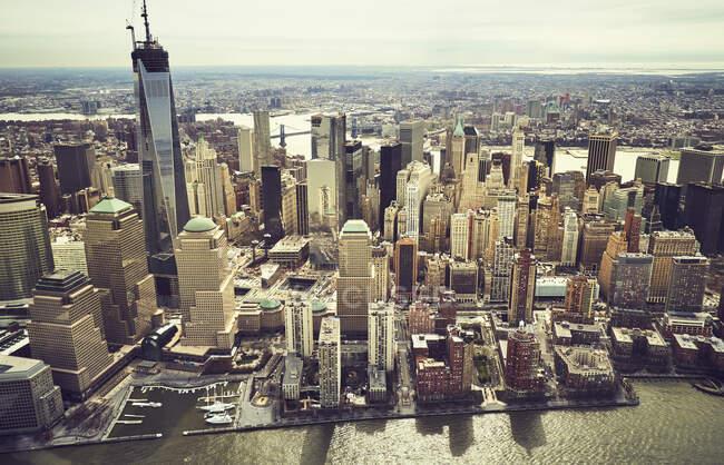 Vista aerea degli edifici di New York — Foto stock