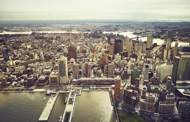 Vue aérienne des bâtiments de New York — Photo de stock