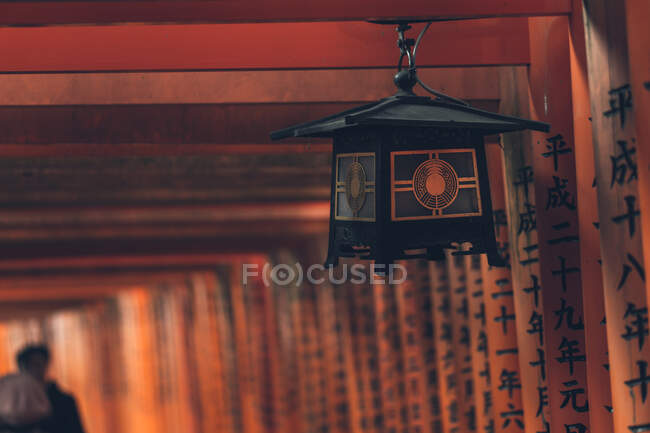 Rows of torii gates in Kyoto — Stock Photo