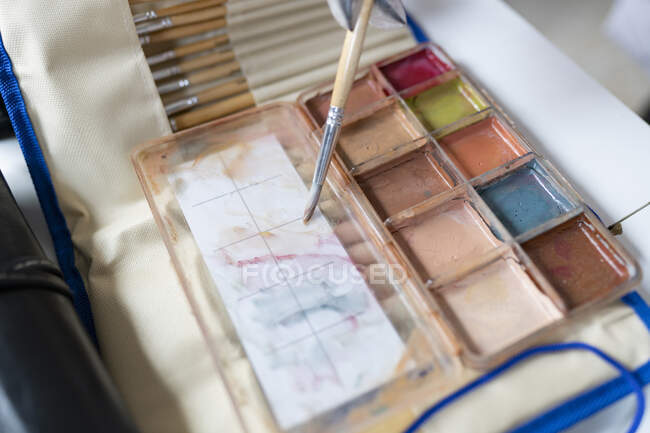 Close-up of a makeup palette — Stock Photo