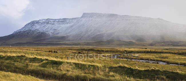 Traveling around near Akranes, Iceland, Europe — Stock Photo