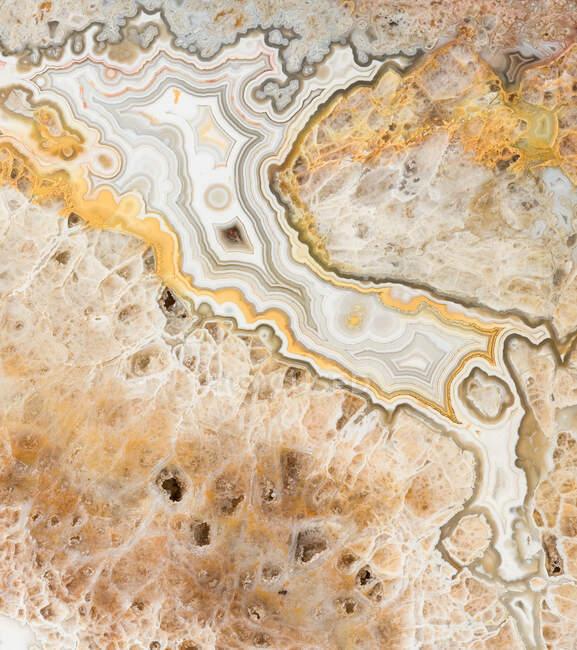 Macro texture fotografia dei colori e dei modelli in agata pizzo dal Messico — Foto stock