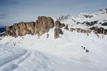 Men on a ski tour — Stock Photo