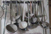 Pottery sculpting metallic tools — Stock Photo