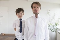 Портрет отца и сына — стоковое фото