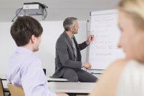 Uomini d'affari, riunione — Foto stock