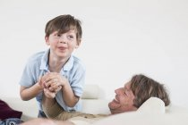 Father and son having fun together — Stock Photo