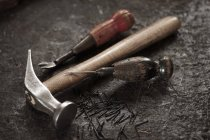 Tools in a cobbler's shop — Stock Photo