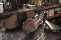 Par de sapatos de couro — Fotografia de Stock