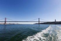 April 25th Bridge across River Tagus — Stock Photo
