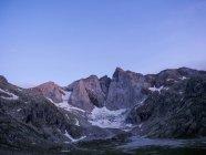 Vue du Mont et glacier Vignemale, Cauterets, France — Photo de stock