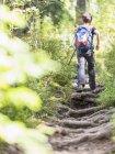 Caminhadas para meninas na estrada da floresta negra, Feldberg, Alemanha — Fotografia de Stock