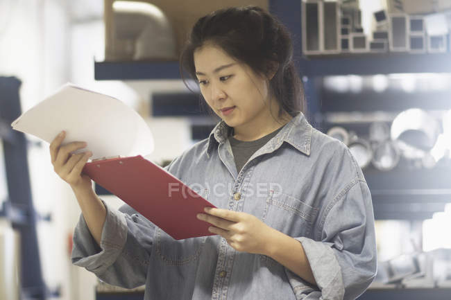 Young female engineer working — Stock Photo
