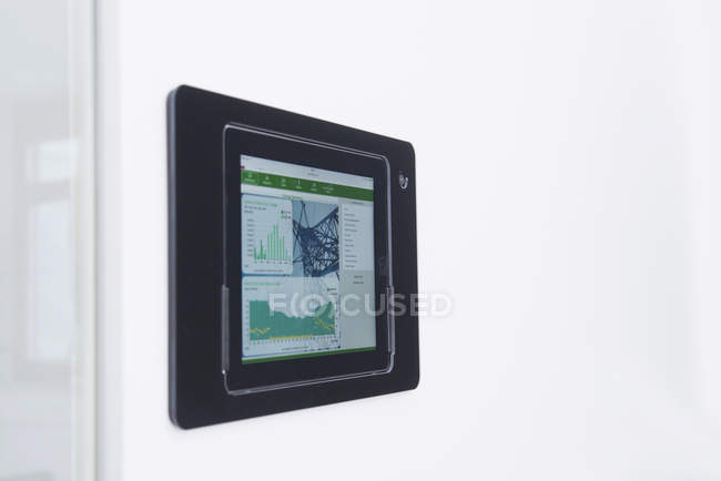 Control panel mounted on wall — Stock Photo